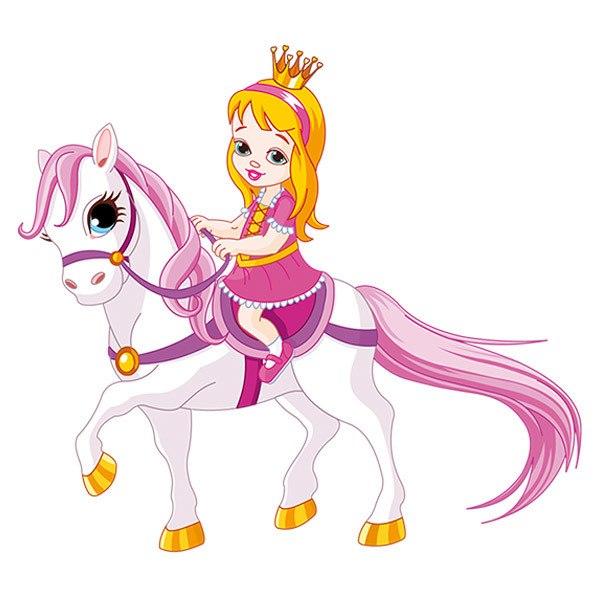 Stickers pour enfants: Princesse et Poney