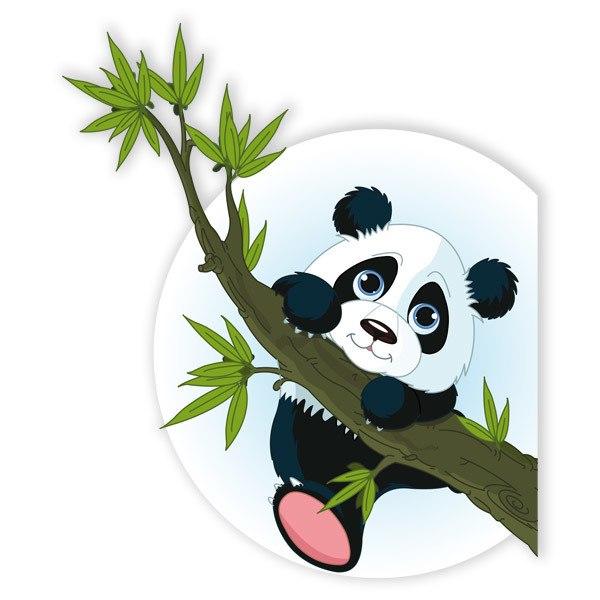 Stickers pour enfants: Panda sur le branche