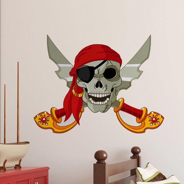 Stickers pour enfants: Épées de crâne et croisés