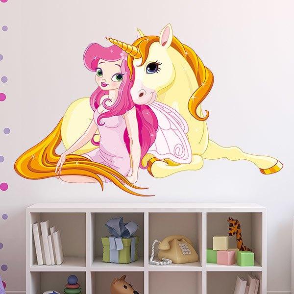 Stickers pour enfants: Princesse et Unicorn