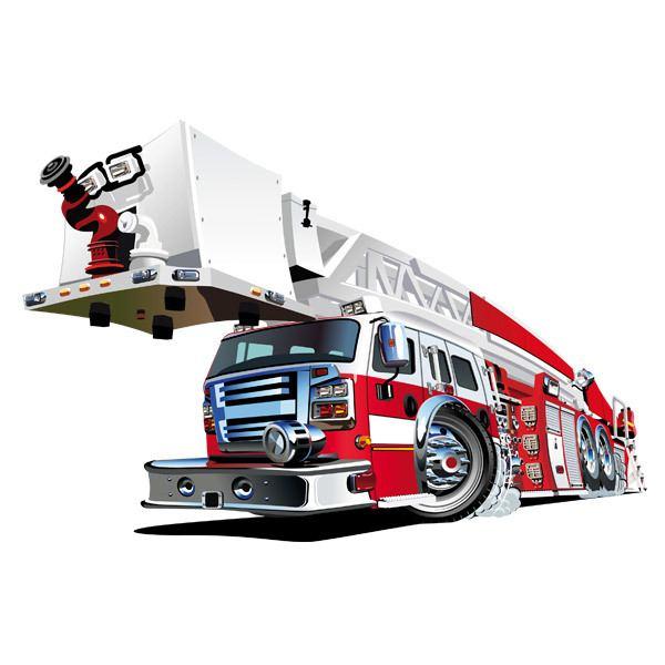 Stickers pour enfants: Camion de pompiers