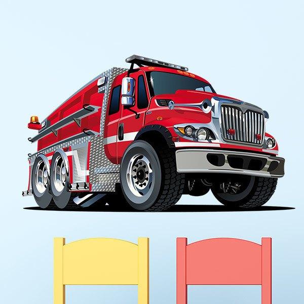 Stickers pour enfants: Camion de pompiers 2