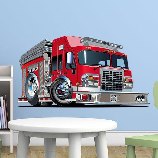 Stickers pour enfants: Camion de pompiers 3