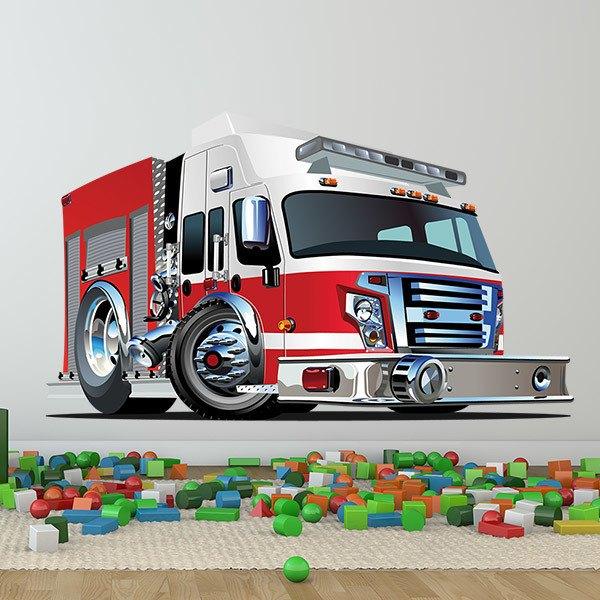 Stickers pour enfants: Camion de pompiers 4
