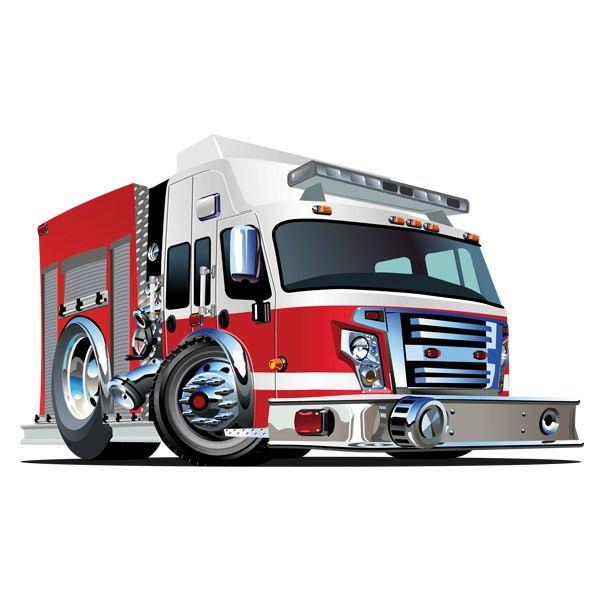 Stickers pour enfants camion de pompiers 4 - Camion de pompier enfant ...