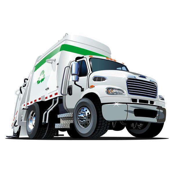 Stickers pour enfants: Déchets camion de recyclage