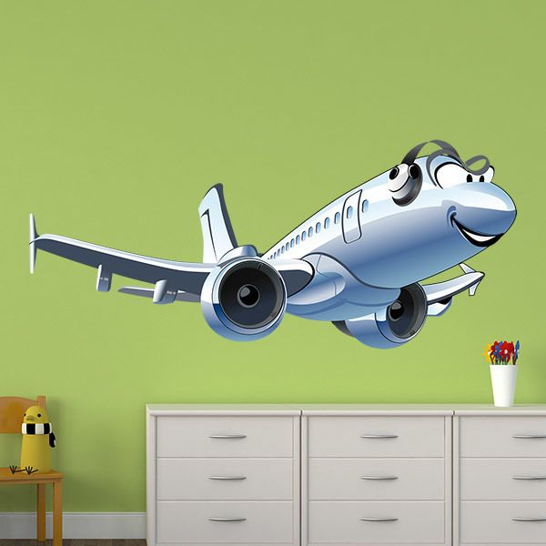 Stickers pour enfants: Avion commercial