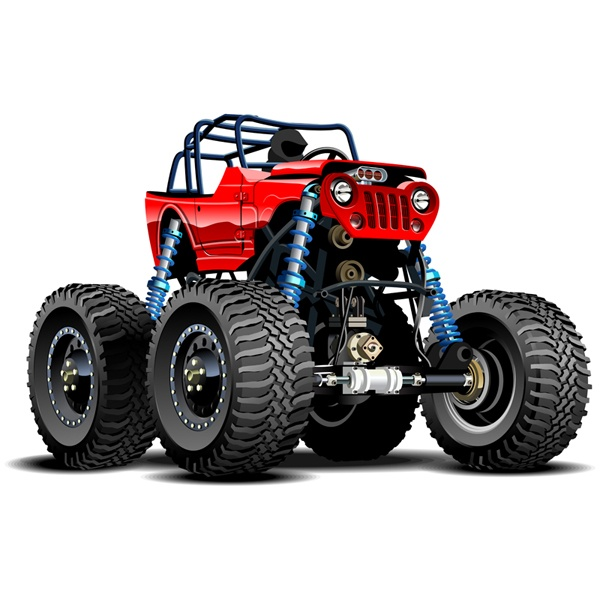 Stickers pour enfants: Monster Truck 17