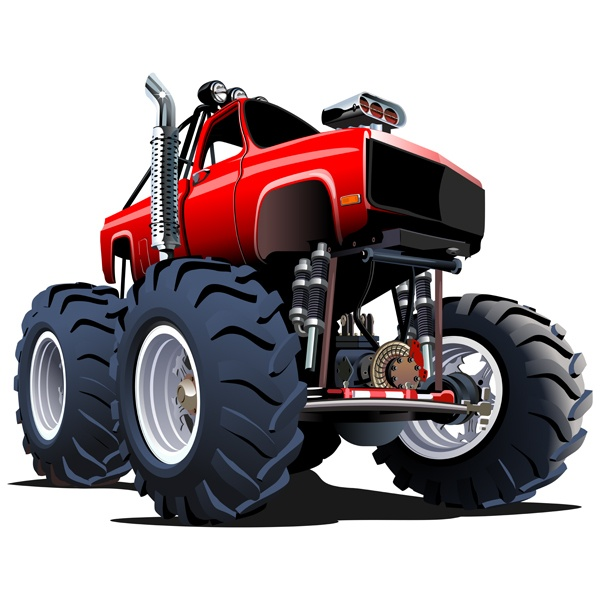 Stickers pour enfants: Monster Truck 19