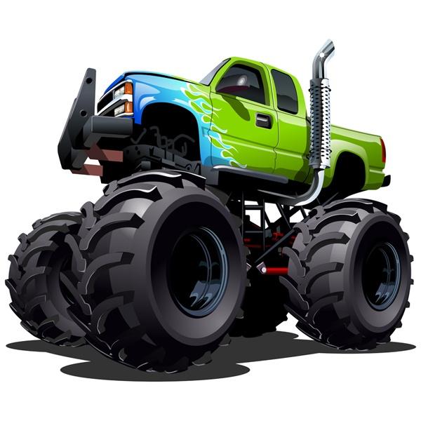 Stickers pour enfants: Monster Truck 21