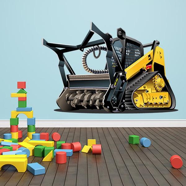 Stickers pour enfants: Rouleau de machine lourde