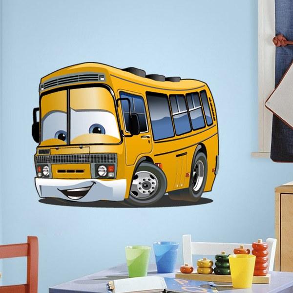 Stickers pour enfants: École de bus