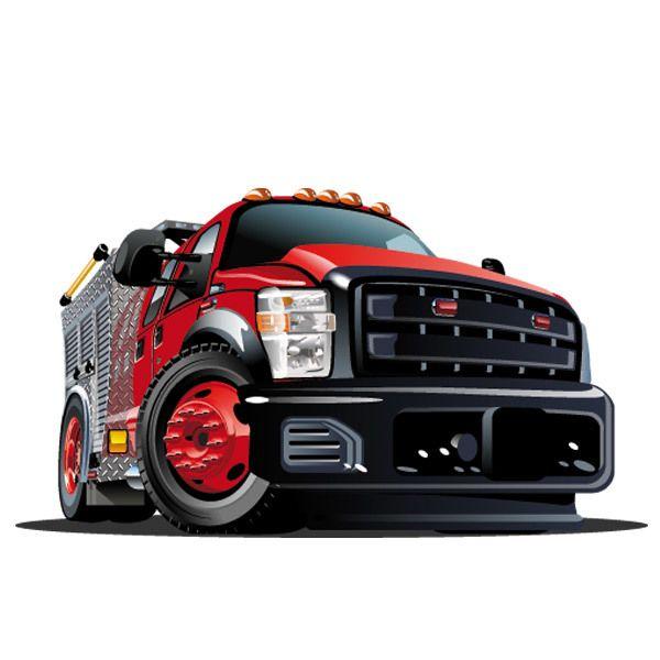 Stickers pour enfants: Camion rouge