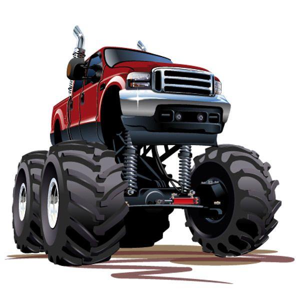 Stickers pour enfants: Monster Truck 5