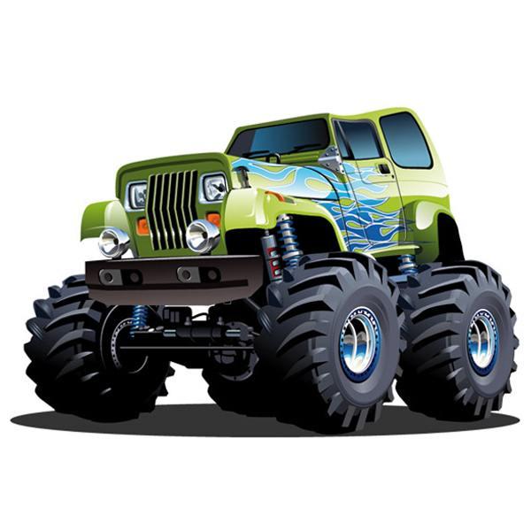 Stickers pour enfants: Monster Truck 6