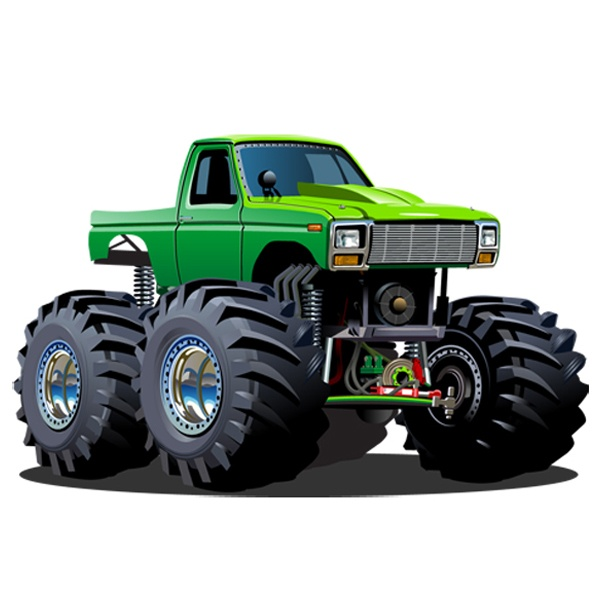 Stickers pour enfants: Monster Truck 12