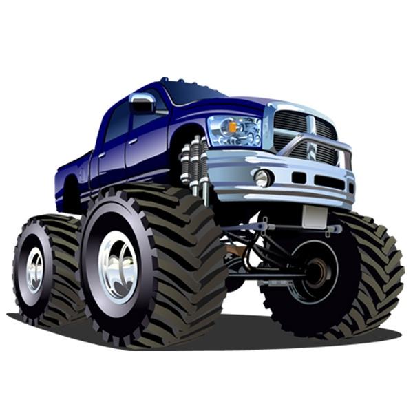 Stickers pour enfants: Monster Truck 13