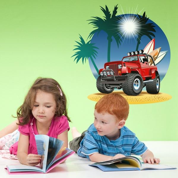 Stickers pour enfants: Tout terrain à la plage