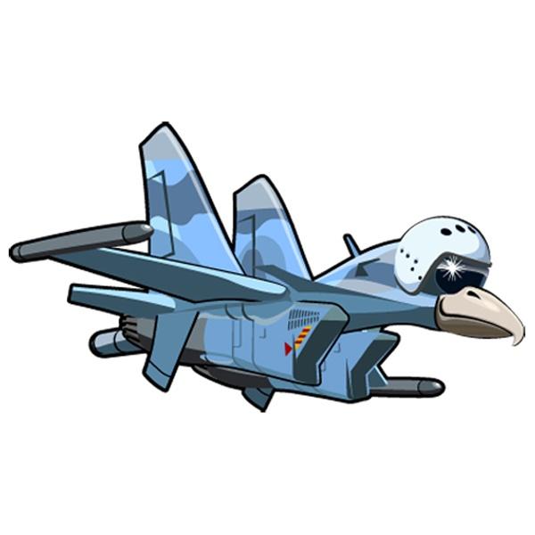 Stickers pour enfants: Avion oiseau tête 3