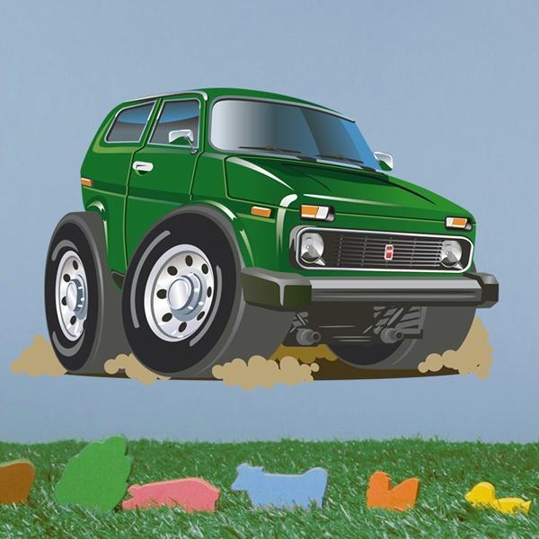 Stickers pour enfants: Tout terrain vert