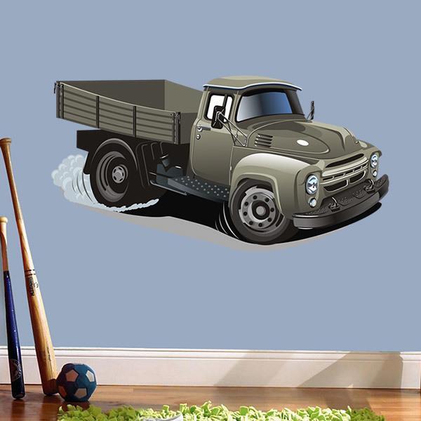 Stickers pour enfants: Old transport par camion