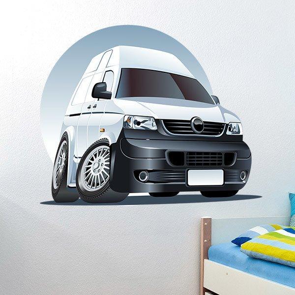 Stickers pour enfants: Camionnette blanche 2