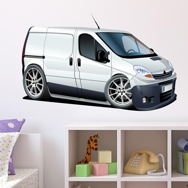 Stickers pour enfants: Camionnette blanche