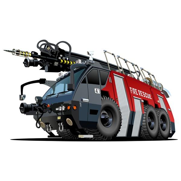 Stickers pour enfants: Fire truck 6