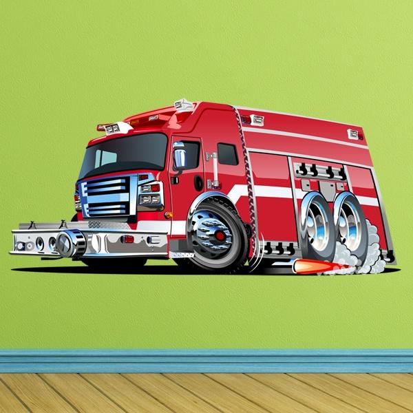 Stickers pour enfants: Fire truck 7