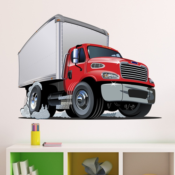 Stickers pour enfants: Camion Transport