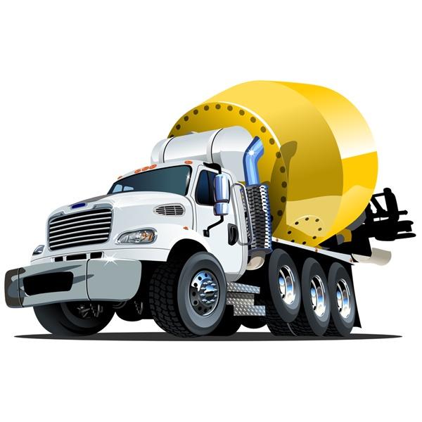 Stickers pour enfants: Béton camion-citerne
