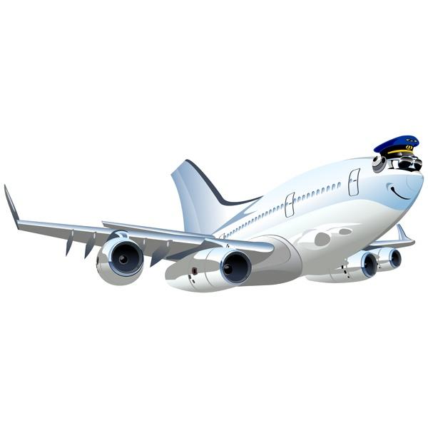 Stickers pour enfants: Avion commercial 4