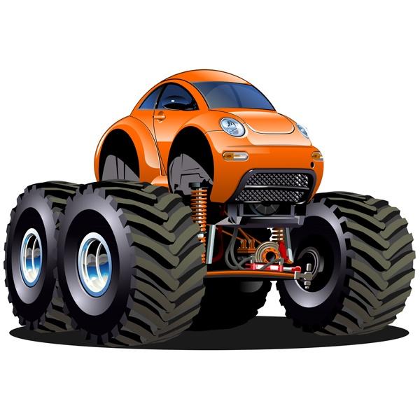 Stickers pour enfants: Monster Truck 24