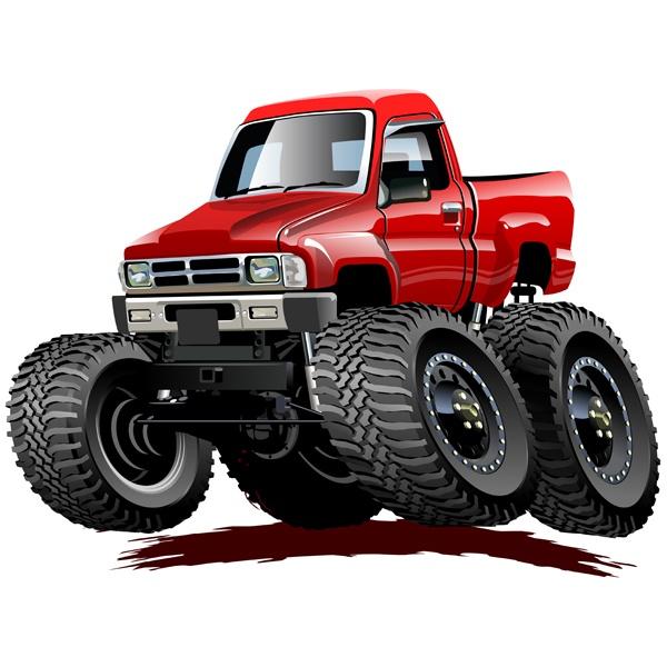 Stickers pour enfants: Monster Truck 26