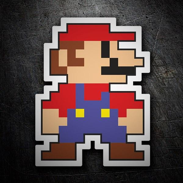 Autocollants: Mario Bros Pixel