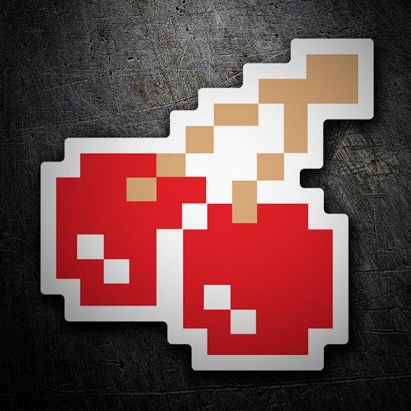 Autocollants: Cerises Pixel Pac-Man