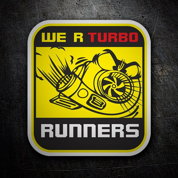 Autocollants: We are Turbo Runners