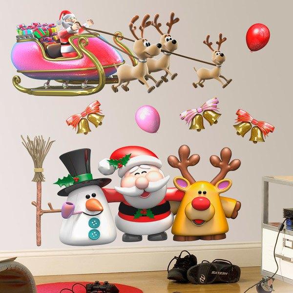 Stickers muraux: Kit Père Noël