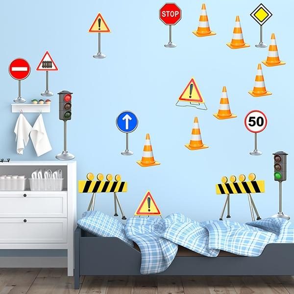 Stickers pour enfants: Feux de circulation Kit