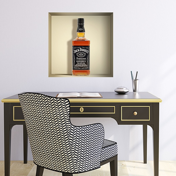 Stickers muraux: Bouteille de Jack Daniels niche