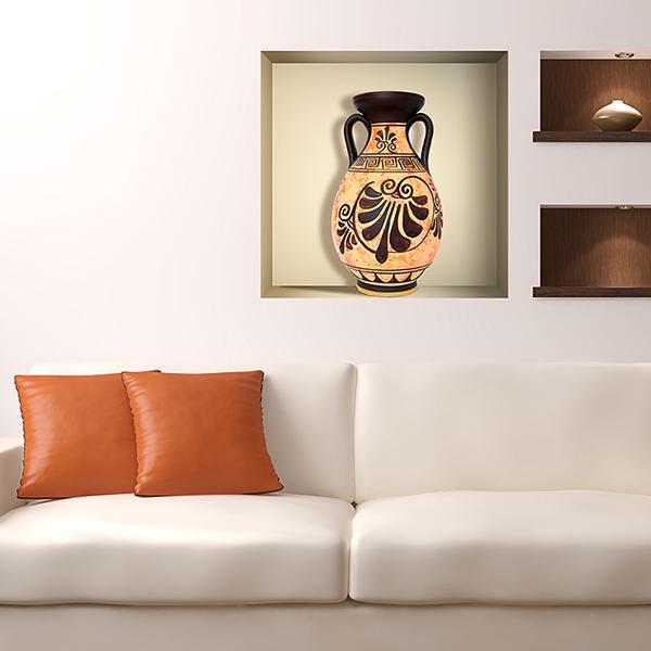 Stickers muraux: Vase Grec niche