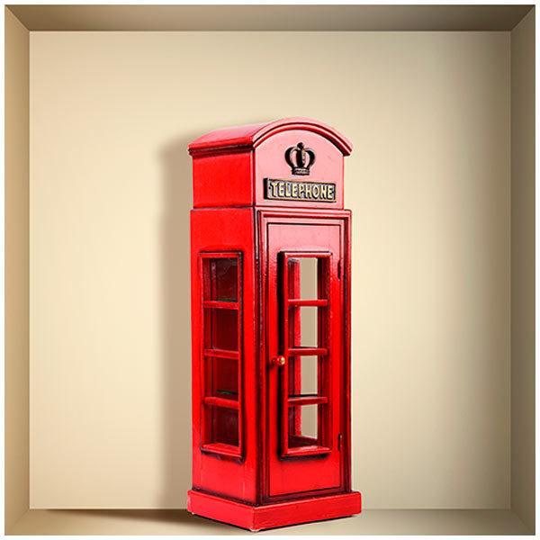 Stickers muraux: Cabine téléphonique de Londres niche