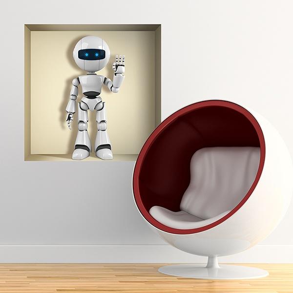 Stickers muraux: Robot niche