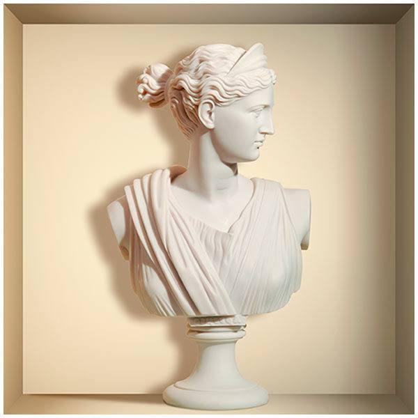 Stickers muraux: Grec buste en marbre niche
