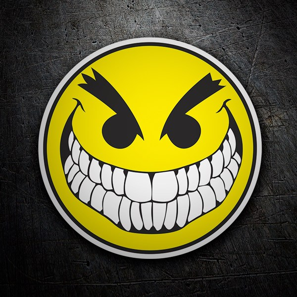 Autocollants: Bad Smiley
