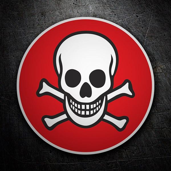 Autocollants: red skull