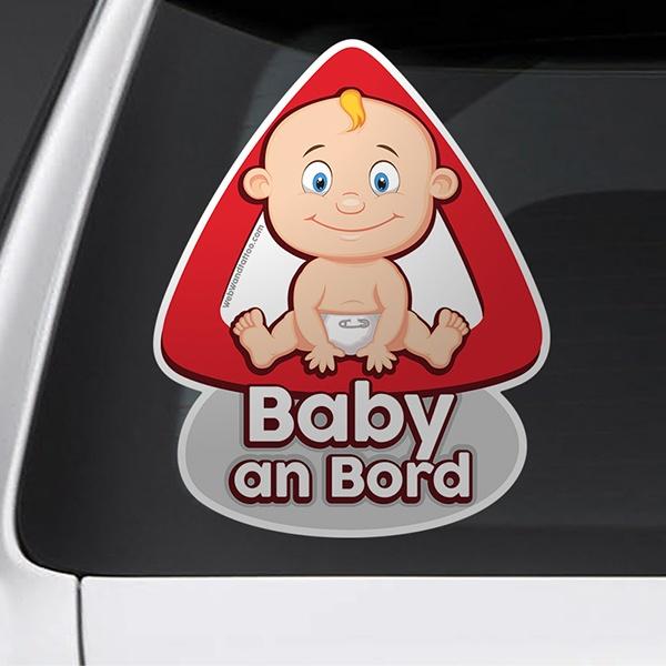 Autocollants: Bébé à bord en allemand