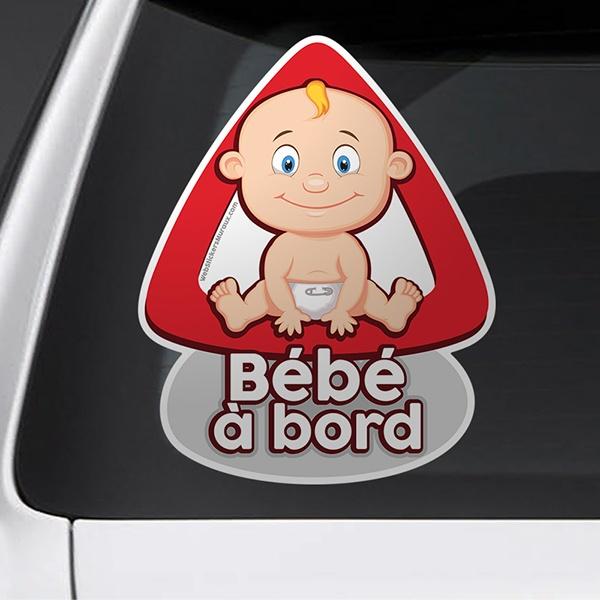 Autocollants: Bébé à bord en français