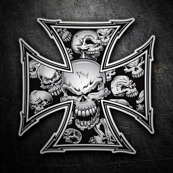 Autocollants: Croix Skulls