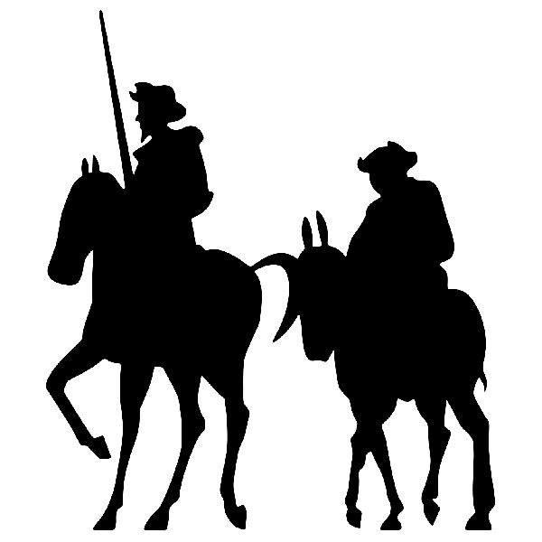 Autocollants: Don Quichotte et Sancho